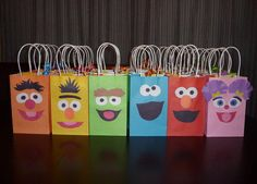 Sesame Street Party Favor Gift Bags by PartyRockinEvents on Etsy, $3.00