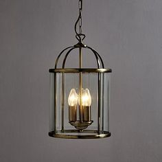 Finished with an elegant antique brass finish, this classic hanging lantern is crafted from clear glass and features three inside lights. Offering a sophisticated design, it will make a bold focal point in any room. Hall Lighting, Flush Lighting, Lighting Sale, Lighting Ideas, Victorian Pendant Lighting, Kitchen Light Fittings, Lantern Ceiling Lights, Living Room Candles, Victorian House Interiors