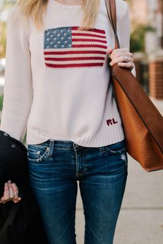 Ralph Lauren American Flag Sweaters - Kelly in the City