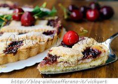 Crostata alla ricotta e marmellata di ciliegie vickyart arte in cucina