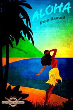 custom-vintage-travel-poster-hawaii