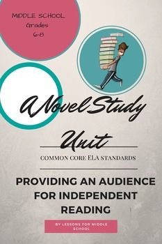 This Middle School Novel Study Project is designed to allow students to show their comprehension of a novel they have read.  This is a culminating activity in an ELA classroom that could be completed as an isolated activity, station work or an activity during independent reading time.