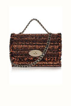 Bolso de tweed en tonos tierra de Mulberry (750 €)