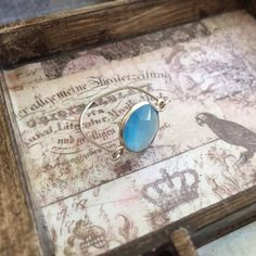 Blue // Sterling Silver Wire Ring Handmade wire wrapped ring in sterling silver featuring a stunning blue stone. Delicate, simple and can be worn everyday. Will fit sizes 6-7. Jewelry Rings