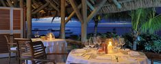 restaurant la ravanne, ashley luchon, hotel paradis beachcomber mauritius Mauritius, Restaurant, Patio, Table Decorations, Outdoor Decor, Sun, Furniture, Home Decor, Decoration Home