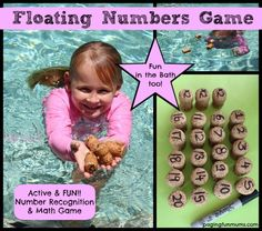 Floating Cork Pool Game fun way to learn numbers and Math skills