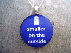 Smaller on the Outside  Doctor Who  Whovian by SolasJewelry, $9.95
