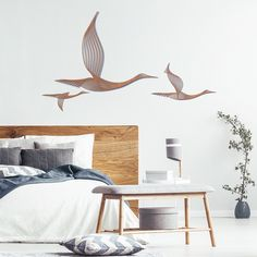 Cranes is a sustainable wooden home design piece created by Andrea Minini exclusively for Eco materials, made in France. 3d Wall Decor, 3d Wall Art, Wooden Wall Art, Wooden Walls, Wooden Signs, Diy Interior, Interior Design, Quirky Decor, Idee Diy