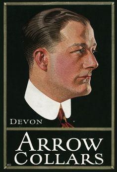 J.C. Leyendecker, illustration art for Arrow Collar ad.