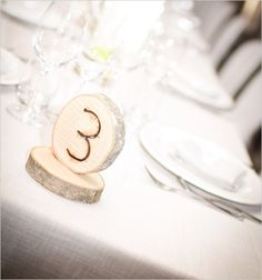 hand carved table numbers
