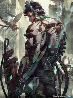 Sci Fi Armor Concept Art | sci fi cyberpunk science fiction sci fi art ios video games cyborg