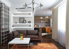 Визуализация квартиры-студии 2