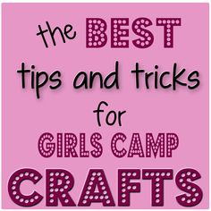 Girl's Camp Crafts---Sugar Bee Crafts: sewing, recipes, crafts, photo tips, and more! Camping Theme, Camping Crafts, Camping Ideas, Camping Foods, Girl Scout Activities, Scout Games, American Heritage Girls, Girl Scout Camping, Camp Counselor
