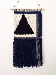 Hand Woven Wall Hanging / Tapestry / Weaving // Blue by WovenLaine