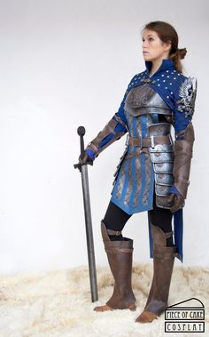 Grey Warden Armor from Dragon Age, December 2015. Foam, fabric, fake leather and…