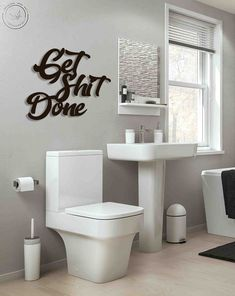 Get shit done - Bathroom wall art Metal Wall Art Metal letters Home Decor Wall Hanging Farmhouse decor Housewarming gift Minimalist wall art Bathroom Humor, Bathroom Wall Decor, Metal Wall Decor, Home Wall Decor, Metal Wall Art, Letter Wall Art, Kitchen Humor, Office Wall Art, Metal Letters