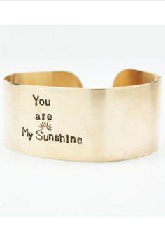 My Sunshine Cuff Bracelet