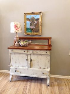 Antique sideboard hand painted in Chalk Paint® by Annie Sloan Country Grey with Clear wax finish. Antique Sideboard, Sideboard Buffet, Annie Sloan Country Grey, Using Chalk Paint, Annie Sloan Chalk Paint, Hand Painted Furniture, Buffets, Hope Chest, Home Decor Items