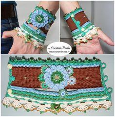 Вязание крючком бохо-шик вязание крючком браслет браслет-манжета от raducristina
