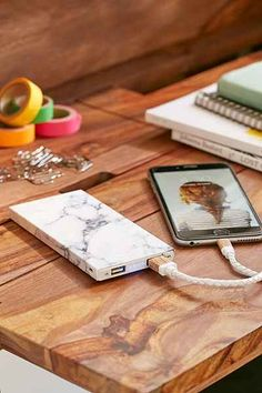 pinterest    ☽ @kellylovesosa ☾ White Marble 8000 mAh Portable Power Charger - Urban Outfitters