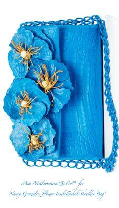 Nancy Gonzalez 'Flower Embellished Shoulder Bag'