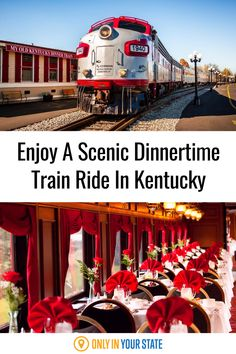 Enjoy a scenic dinnertime train ride that will take you from sunset to moonlight while enjoying a delicious meal and beautiful views. This Kentucky adventure is perfect for a romantic couples excursion but can also be fun with friends.