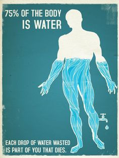 'Water Poster', art print by Mathias Townsend  on artflakes.com