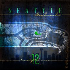 Seattle Seahawks City Map The 12th Man Club by RetroLeague