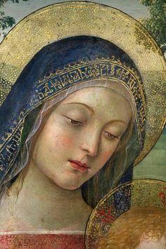 """douayrheims: """"Pinturicchio - Madonna of Peace. Detail. 1490 ~ The Light of Faith """""""