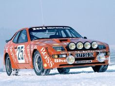 Porsche 924 Turbo GTS rally car