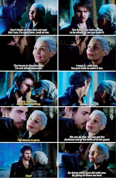 """We can do this. We can get the darkness out of the both of us for good"" - Dark Swan and Dark Hook #OnceUponATime"