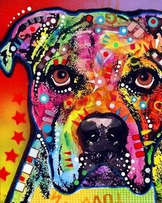 American Bulldog Painting by Dean Russo - American Bulldog Fine Art Prints and Posters for Sale