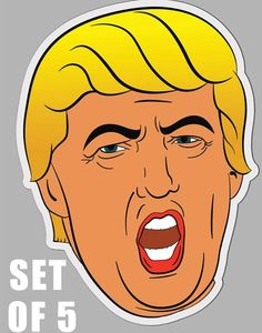 Check out this item in my Etsy shop https://www.etsy.com/listing/598043049/donald-trump-sticker-set-of-5-funny