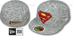 Superman COMIC REFLECT Fitted Hat by New Era on hatland.com