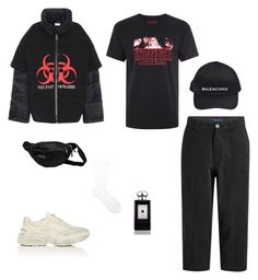 """Untitled #48"" by rayensulistiawan on Polyvore featuring Vetements, Topman, Levi's Made & Crafted, JanSport, Gucci, Balenciaga, Jo Malone, Pantherella, men's fashion and menswear"