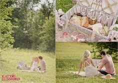 Why not bring a picnic?  :)   Filippa & Darren | Summer Picnic Engagement Shoot » Katy Lunsford Photography