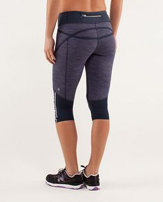 run: pace crop | women's crops | lululemon athletica - indigo wee space/Inkwell Wee Space Pace crops sz 6
