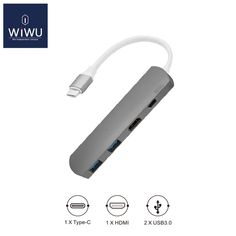 Cheapest prices US $40.79  WIWU Type C Hub with HDMI 4 in 1 USB 3.0 Adapter for MacBook USB Hub Computer Peripherals USB Type C HDMI for MacBook Pro Air  #WIWU #Type #HDMI #Adapter #MacBook #Computer #Peripherals  #BestBuy