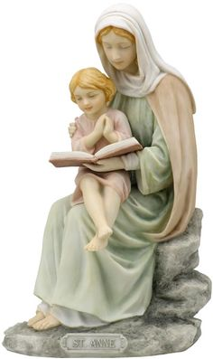 Saint Anne  Religious Figurine Statue Sculpture-Home Décor-Decorations-Christian Related Gifts-Available for Sale at AllSculptures.com