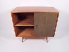 Paul McCobb Small Grasscloth Cabinet 1950's   From a unique collection of antique and modern cabinets at https://www.1stdibs.com/furniture/storage-case-pieces/cabinets/