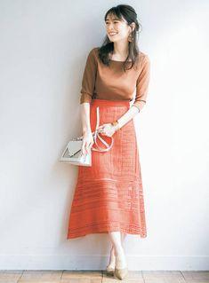 『テラコッタ&オレンジ』の色効果で、気さくな自然体女子になれちゃう♡ 結婚できる正解コーデ - withonline - 講談社公式 - | 女を磨ける 結婚できちゃう