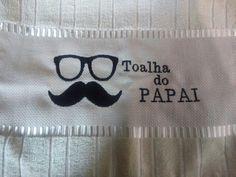 Toalhas lavabo bordada Dia dos Pais. R$ 10,00