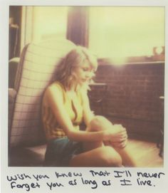 Taylor Swift Polaroid 62 - I Wish You Would #1989