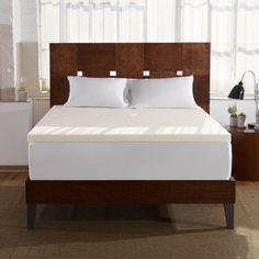 Sleep Innovations 2 in. Memory Foam Mattress Topper - F-TOP-13240-TW-WHT