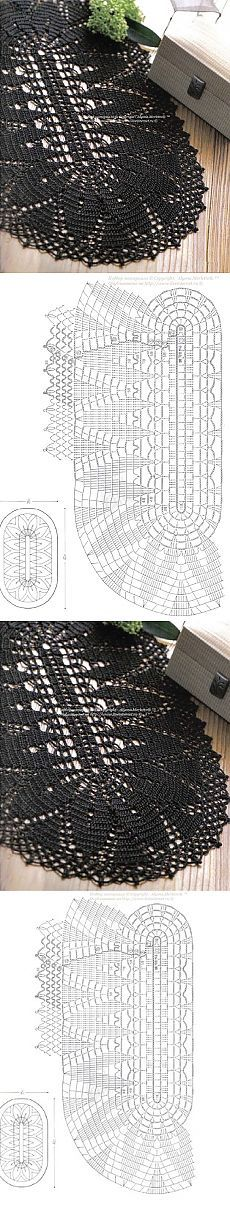 New Crochet Doilies Oval Posts 56 Ideas Crochet Doily Rug, Crochet Doily Diagram, Crochet Carpet, Crochet Tablecloth, Crochet Home, Filet Crochet, Crochet Yarn, Doily Patterns, Crochet Patterns