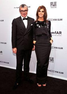 amfAR Gala Red Carpet: Vladimir Restoin Roitfeld and Carine Roitfeld