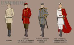 For my story, Glen/Iris: the military uniforms of the Royal Army of the Kingdom . For my story, Glen/Iris: the military uniforms of the Royal Army of the Kingdom of Locaria(Glen and Iris& home country.) Uniforms for the females . Anime Uniform, Cream Suit, Anime Military, Uniform Design, Cosplay, Military Fashion, Military Clothing, Military Style, Character Outfits