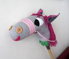 Beauty, the stick horse made from a sock. I'm so making one of these for C and little M