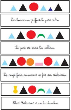 Montessori Education, French Language, Cycle 3, Homeschool, Teaching, Voici, Kids, Support, Activities