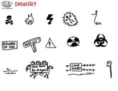 Visual Metaphor - #danger #Sketchnotes